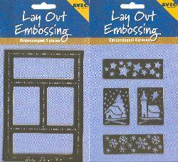 Lay Out Embossing - Stars