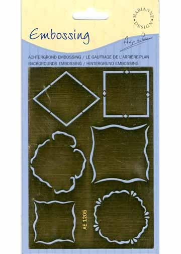 Mini Frame and Embossing Stencil(AE1205)