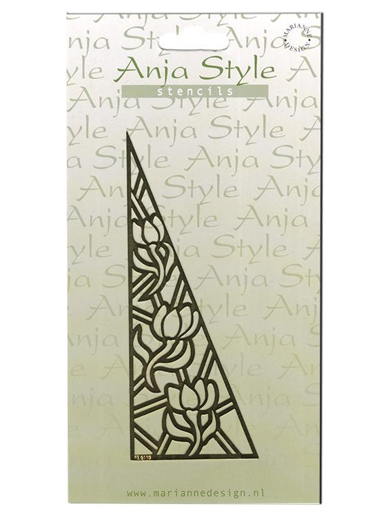 Anja Style Stencil Flowers/Triangle (FE6110)