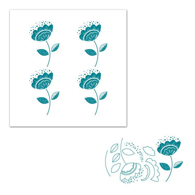 Screen Sensation Flower 12 x 12 Screen and Stamp Set