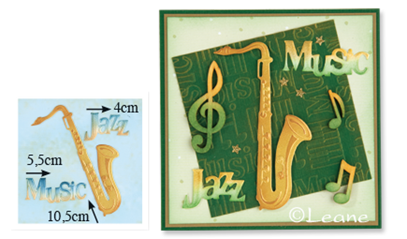 Lea'bilitie Saxophone, cut and embossing die