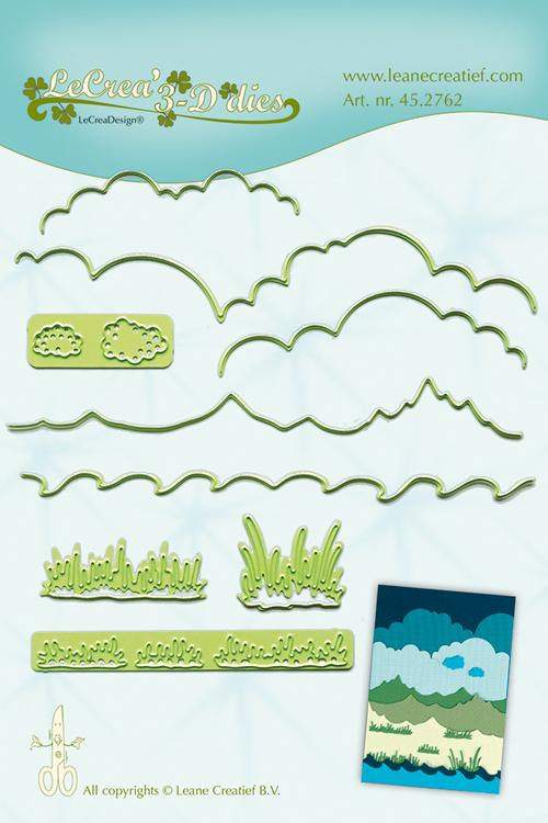 Lea'bilitie Background dies Landscape- cut and embossing die