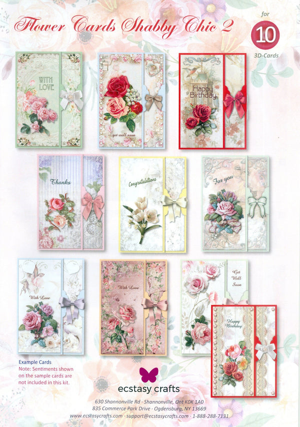 Flower Card Kit Shabby Chic - 2