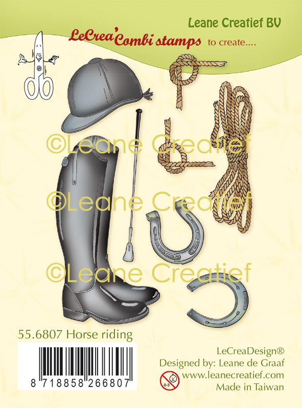 Lecreadesign Combi Clear Stamp Horse Riding