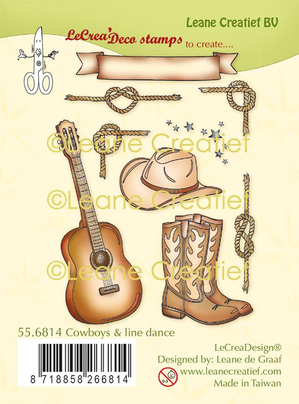 Lecreadesign Combi Clear Stamp Cowboys & Line Dance
