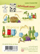 Lecreadesign Combi Clear Stamp Wine & Beer