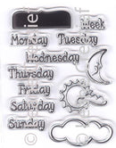 Project Life & Cards clear stamp  Days of the Week