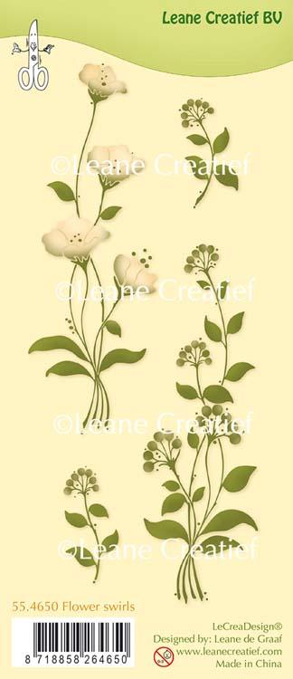 Clear Stamp Flower Swirls