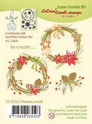 Lecreadesign Clear Stamp Christmas Wreath