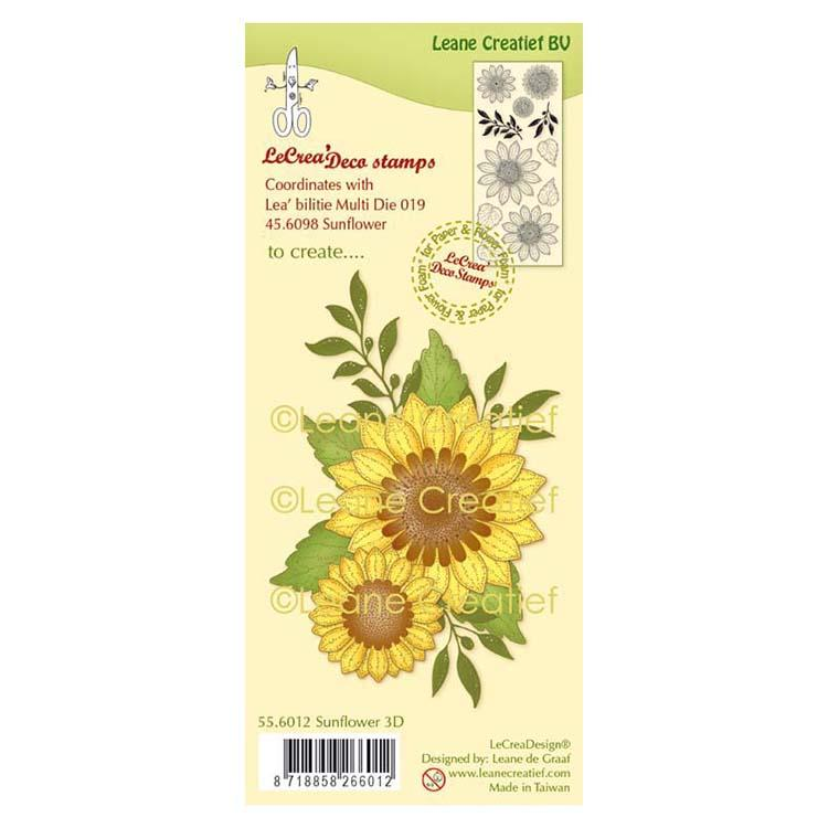 Lecreadesign Deco Clear Stamp Sunflower 3D