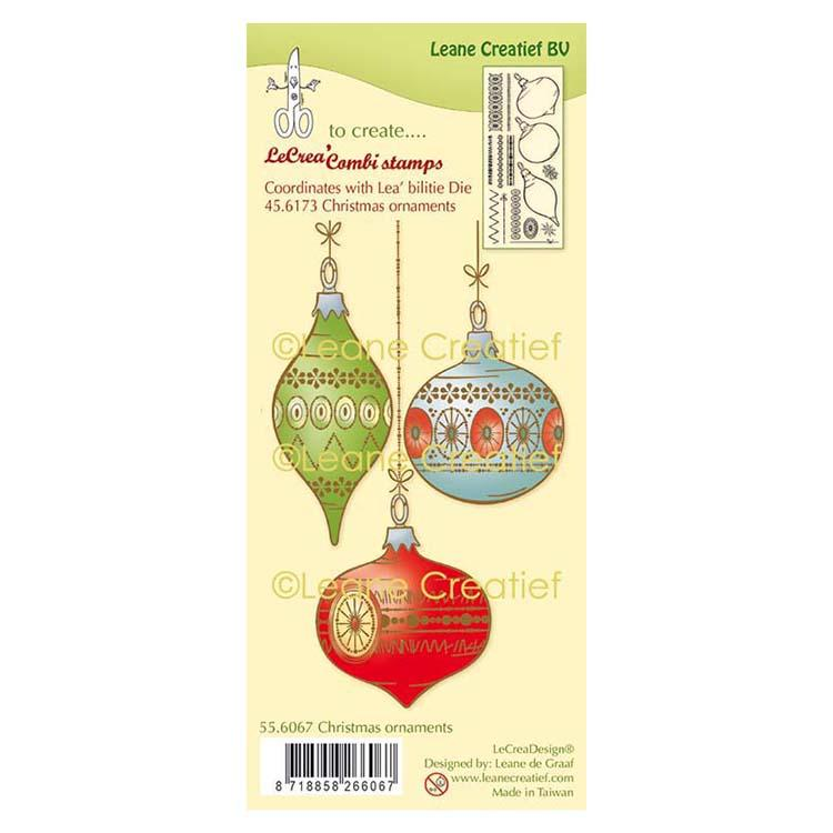 Lecreadesign Combi Clear Stamp Christmas Ornaments