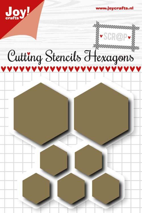 Scrap Cuttingstencils - Hexagon
