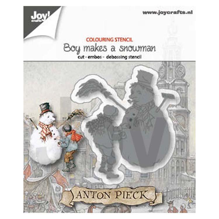 Joy! Craft Die - Anton Pieck Boy Makes a Snowman