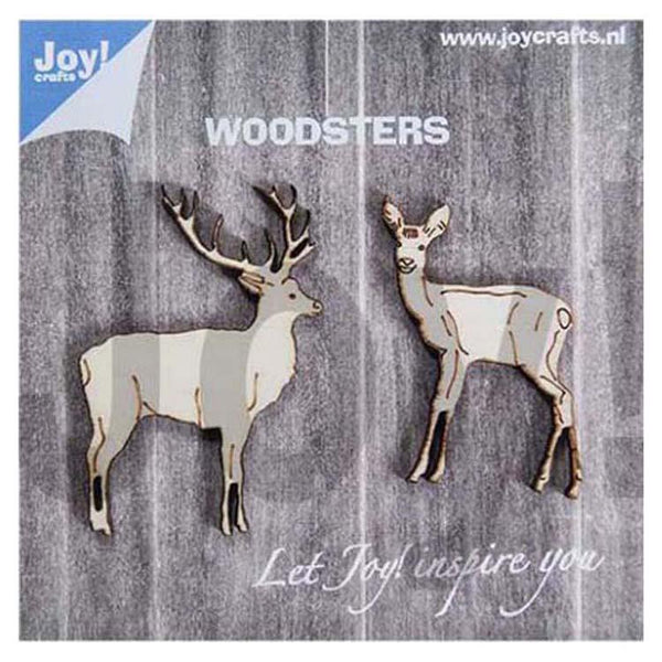 Joy! Craftss Wooden Figures - Deers