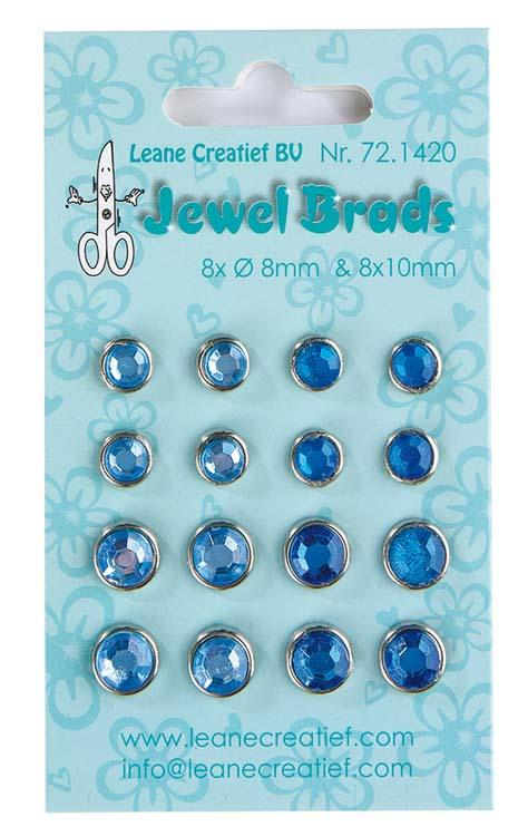 Jewel Brads - Dark & Light Blue