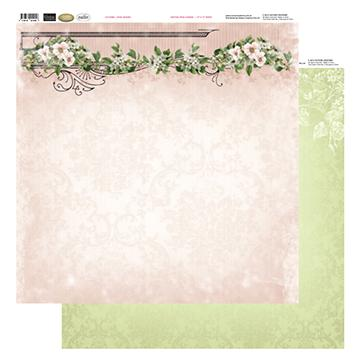 12x12 Patterned Paper  - Rose Header - Vintage Rose Collection (5)