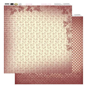 12x12 Patterned Paper  - Petite Flowers - Vintage Rose Collection (5)