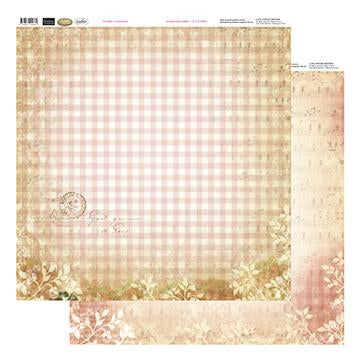 12x12 Patterned Paper  - Plaid & Music - Vintage Rose Collection (5)