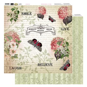12x12 Patterned Paper  - Smile - Vintage Rose Collection (5)
