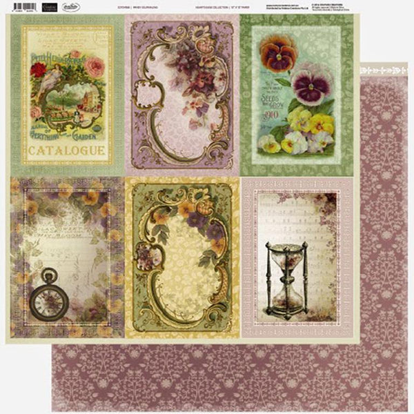 Couture Creations - 12 x 12 Paper (5 sheets) - Pansy Journaling