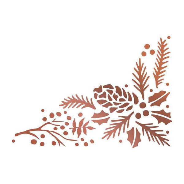 Couture Creations Hotfoil Stamp - Pinecone Corner