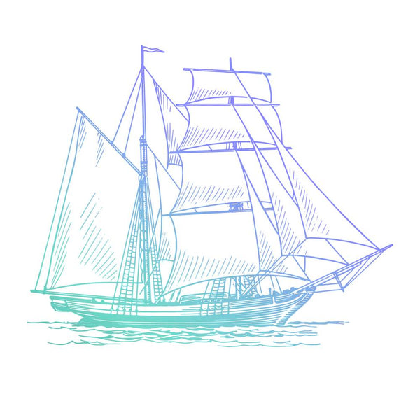 Mini Stamp - Men's collection - Hatched Tallship