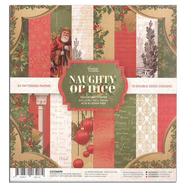 Couture Creations Naughty or Nice 6 x 6 Paper Pad (24 sheets)