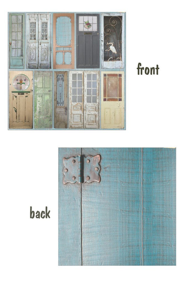 Architextures 12 x 12 Card Stock - Painted Doors