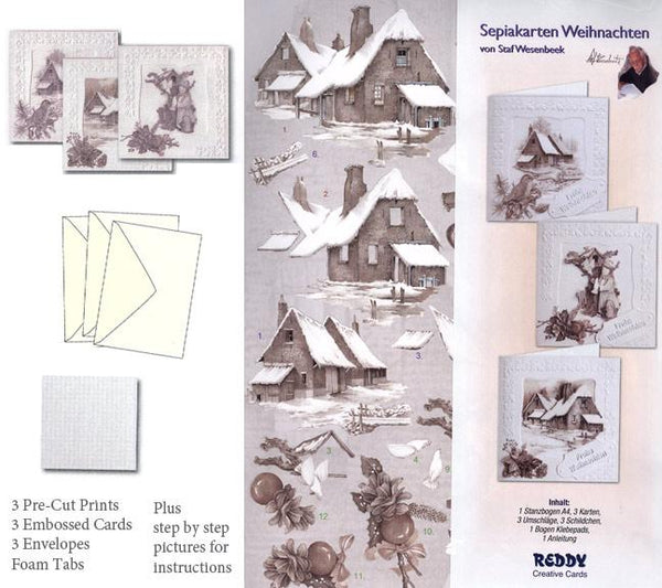 3D Card Kit - (3) Winter Country 2