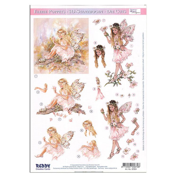 Reddy Creative Cards Die-Cut 3D Card Toppers - Fairies on the Branch