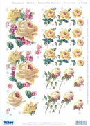 3D Precut - Cream/Blush Antique Roses