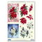 Reddy Creative Cards Die-Cut 3D Card Toppers - Poinsettia & Dogwood