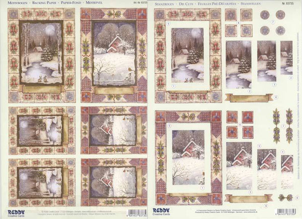 3D Precut Sheet - Winter in the Country