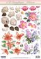 3D Precut - Flowers - 2 sheets