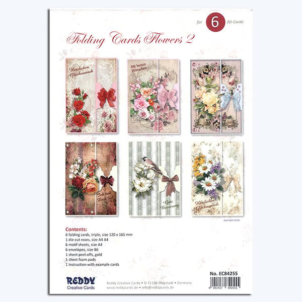 Folding Cardmaking Kit Flowers 2