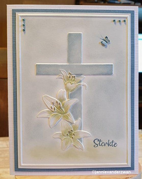 Nellie Embossing 3D Folder - Cross with Lines