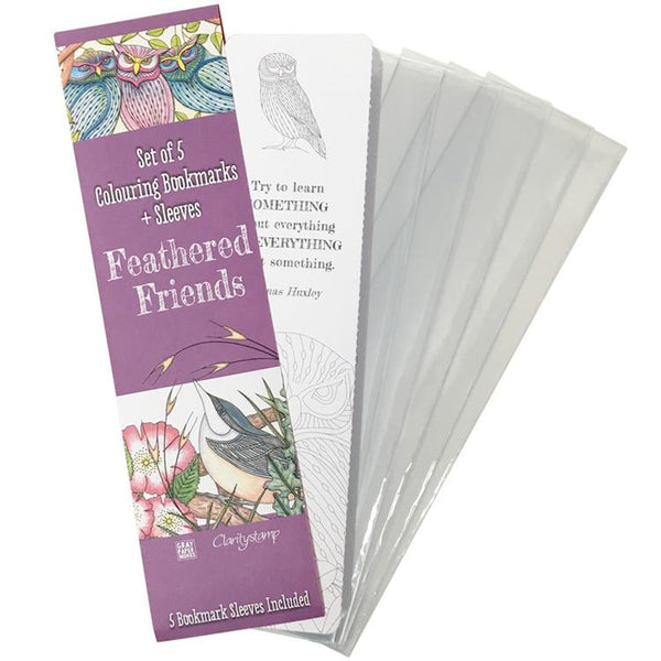 Claritystamp - Feathered Friends - Bookmarks Collection