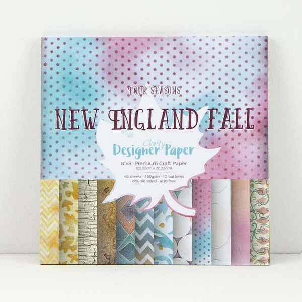 "Claritystamp New England Fall Designer Paper Pack 8"" x 8"""