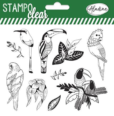 Stampo Tropical Birds Clear Stamp