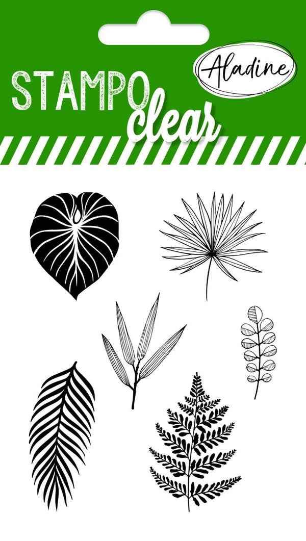 Stampo Individual Leaves Clear Stamp