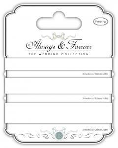 Creative Expressions Satin Ribbon - White