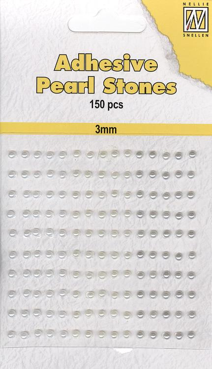 Nellie's Choice - Adhesive Pearl Stones 3mm