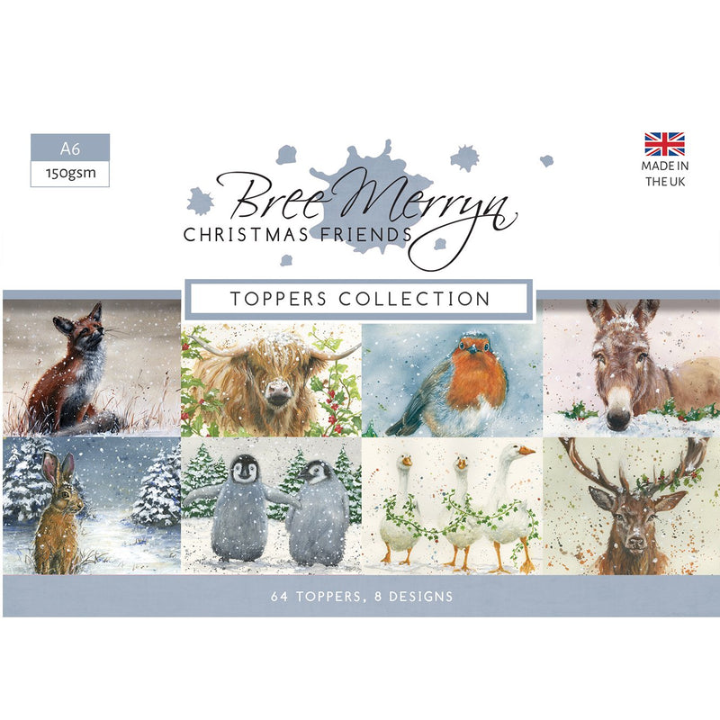 Bree Merryn Christmas Friends - A6 Toppers