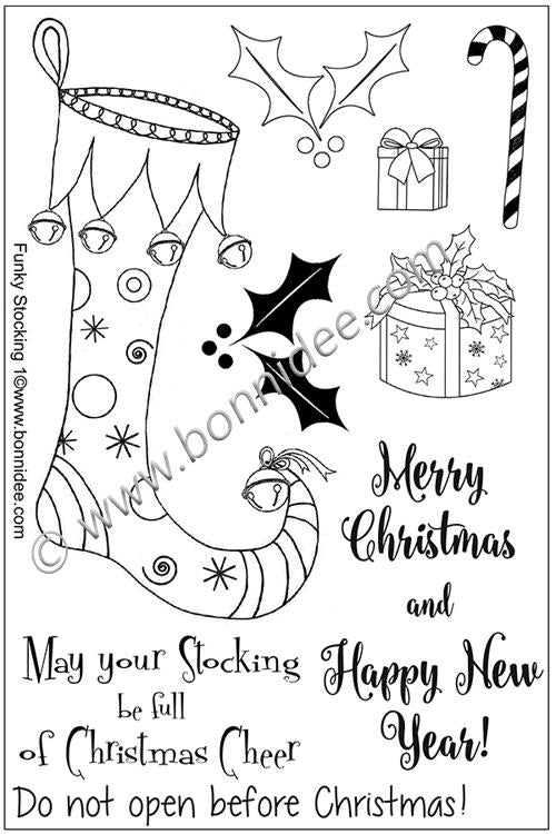 Bonnidee Stamps - Funky Stocking