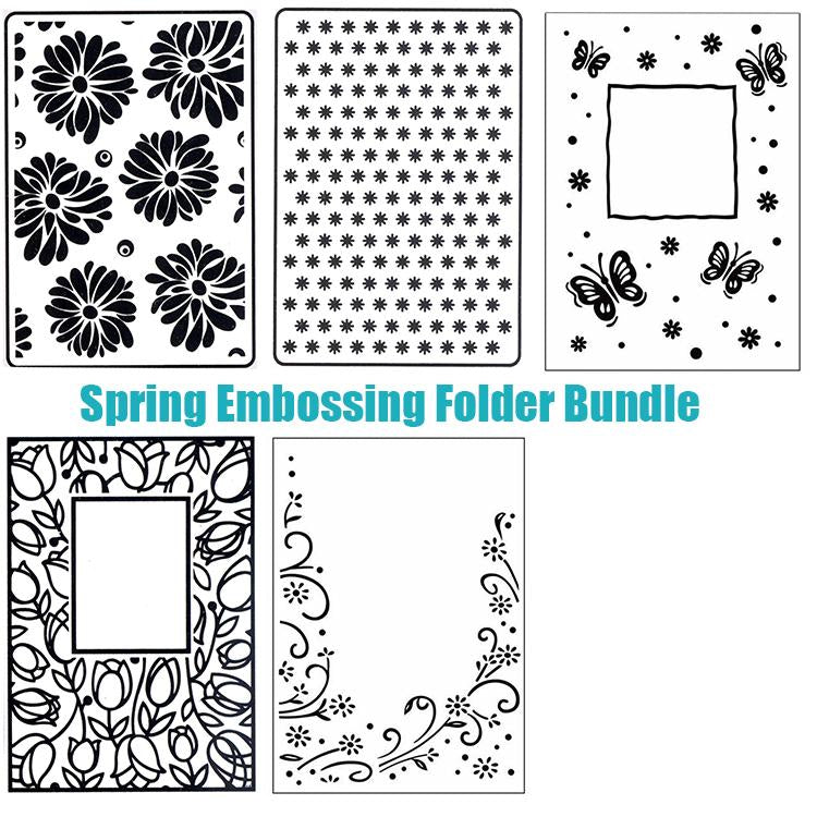 Spring Embossing Folder Bundle