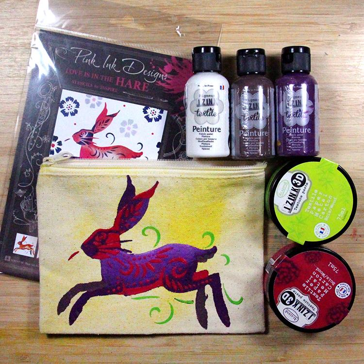 Layered Hare Stencil Project Bundle