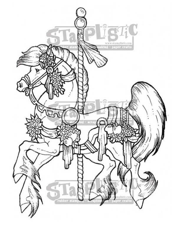 Carousel Horse Rubber Stamp