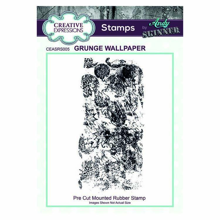 Creative Expressions Pre Cut Rubber Stamp by Andy Skinner Grunge Wallpaper