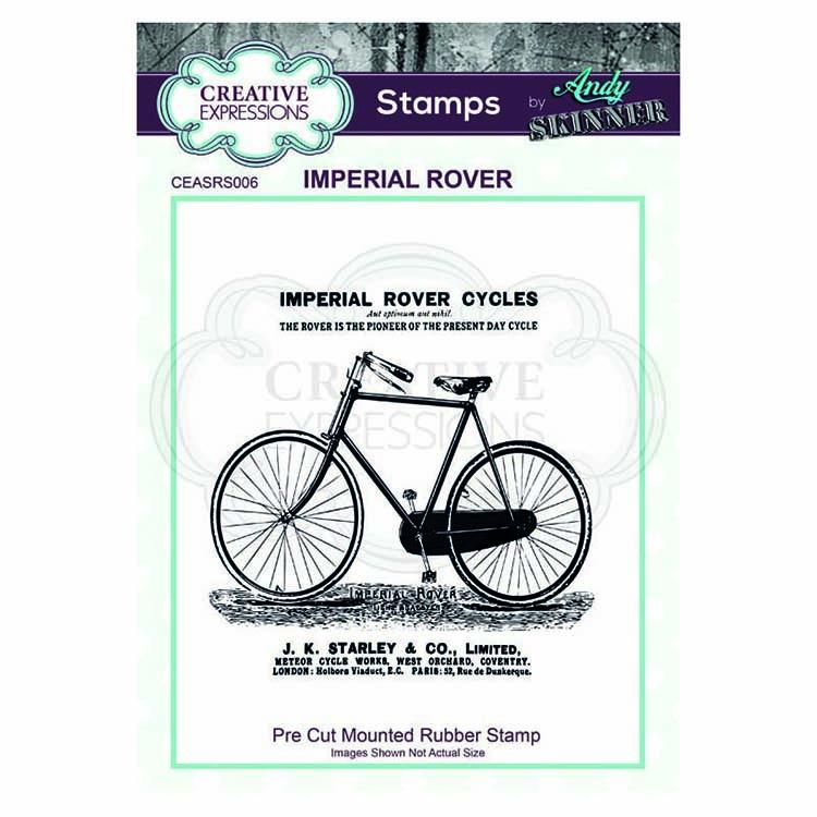 Creative Expressions Pre Cut Rubber Stamp by Andy Skinner Imperial Rover