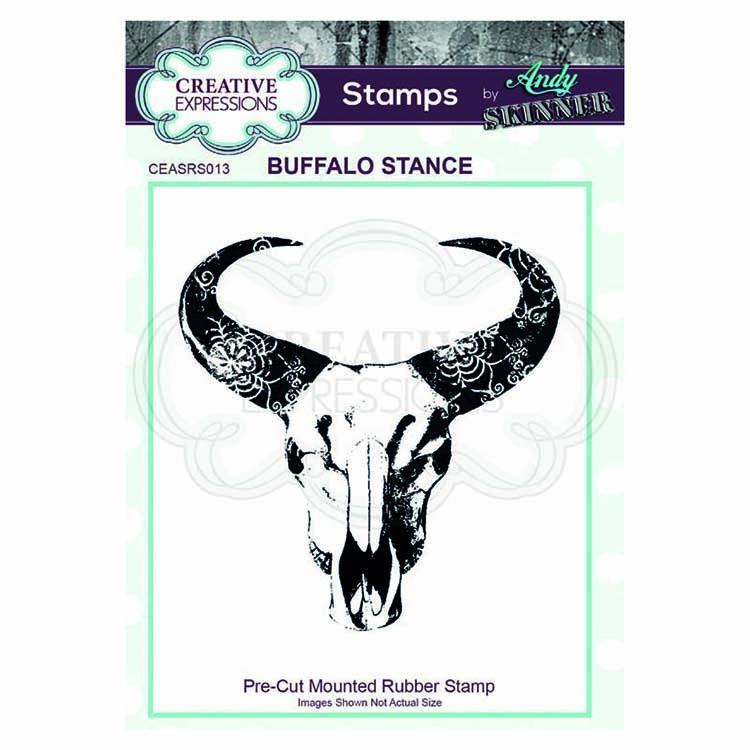 Creative Expressions  Pre Cut Rubber Stamp by Andy Skinner Buffalo Stance